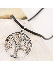 Retro Gun Black Tree Shape Pendant Simple Design