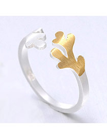 Pretty Gold Color Branch Shape Simple Design  Cuprum Korean Rings