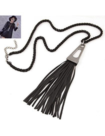 Fashion Silver Color Tassel Descorated Simple Design