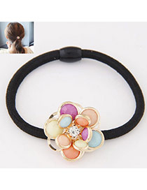 Fashion Multicolor Flower Decorated Simple Design  Alloy Hair band hair hoop
