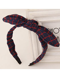 Sweet Navy blue+red Bowknot Decorated Simple Design Fabric Hair band hair hoop