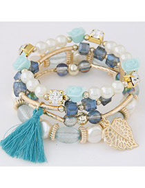 Sweet Blue Multi-element Decorated Multilayer Design