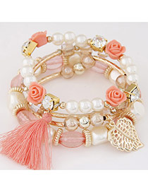 Sweet Pink Multi-element Decorated Multilayer Design