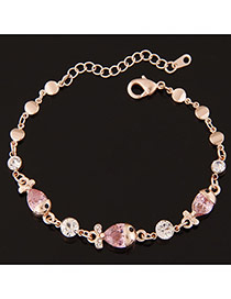 Sweet Golor Color+pink Fish Shape Decorated Simple Design  Alloy Korean Fashion Bracelet