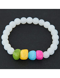 Sweet Multicolor Beads Decorated Simple Design  Rosin Korean Fashion Bracelet