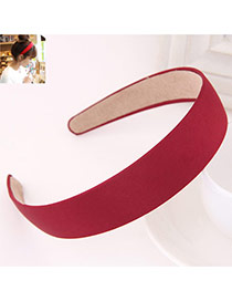 Fashion Claret-red Pure Color Simple Design  Fabric Hair band hair hoop