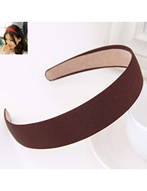 Fashion Coffee Pure Color Simple Design Fabric Hair band hair hoop