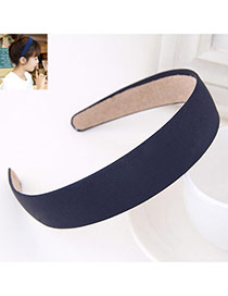 Fashion Navy Blue Pure Color Simple Design  Fabric Hair band hair hoop