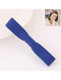 Sweet Blue Pure Color Bowknot Shape Design  Fabric Hair clip hair claw