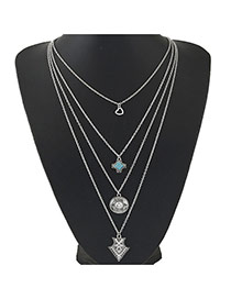 Bohemia Anti-silver Multielement Pendant Decorated Multilayer Design