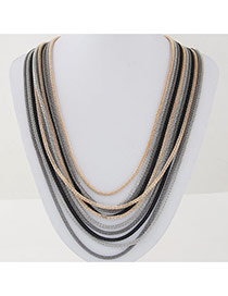 Fashion Multicolor Metal Decorated Multilayer Design