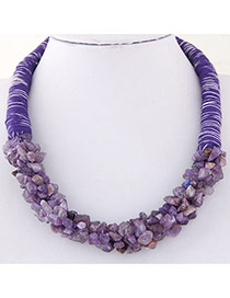 Bohemia Purple Irregular Shape Decorated Weave Design