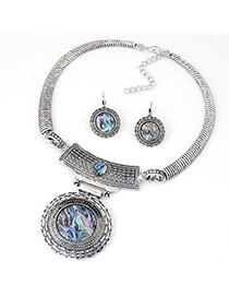 Fashion Silver Color Round Pendant Decorated Hollow Out Design