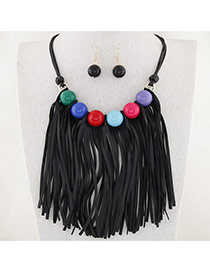 Fashion Multi-color Tassel Pendant Decorated Simple Design Alloy Jewelry Sets