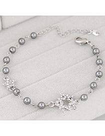 Sweet Gray Star Shape And Pear Decorated Simple Design Alloy Korean Fashion Bracelet