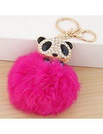 Lovely Plum Red Bear&fuzzy Ball Decorated Simple Design