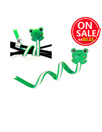 Lovely Green Cartoon Frog Shape Decorated Bend Design