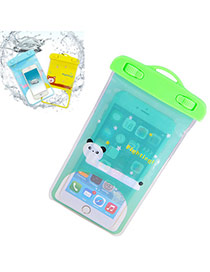 Transparent Green Waterproof Phone Pocket Simple Design Pvc Household Goods