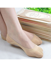 Candy Color Skin Color Shallow Mouth Invisible Socks Simple Design Charcoal Cotton Fashion Socks