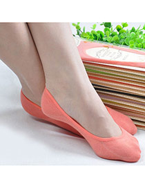 Candy Color Watermelon Red Shallow Mouth Invisible Socks Simple Design Charcoal Cotton Fashion Socks