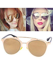 Wholesale Gold Color Thin Leg Metal Frame Design Alloy Women Sunglasses