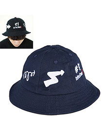 High-quality Navy Blue Arrow Pattern Simple Design