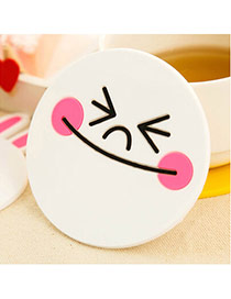 Creative White Smile Pattern Simple Design  Silica Gel Household goods