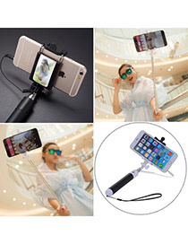 High-quality Black Self-timer Free Bluetooth Simple Design Stainless Steel Phone holder