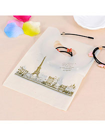 Pretty Beige Eiffel Tower Pattern Descorated Simple Design Hdpe Jewelry Tools