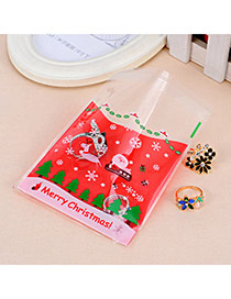 Sweet Red Santa Claus Pattern Simple Design (100pcs)