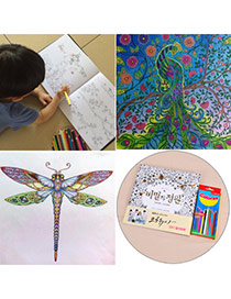 Personality Multicolor Decompression Secret Garden Graffiti Hand Tintage Book Paper+crayon Other Creative Stationery
