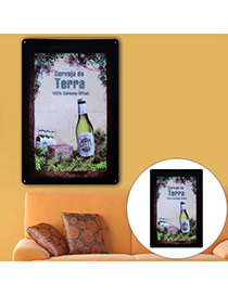 Nostalgic Multicolor Beer Pattern Decorated Simple Design  Iron Household goods