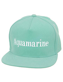 Fashion Green Letter Aquamarine Embroideried Decorated Simple Design  Canvas Baseball Caps