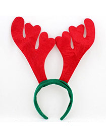 Lovely Red+green Antlers Shape Decorated Simple Design