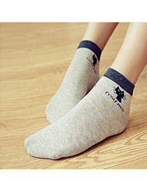 Lovely Light Gray Thick Cat Pattern Decorated Short Design