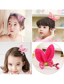 Cute Plum Red Dot Pattern Decorated Bowknot Design