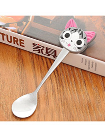 Personality Gray Cartoon Cat Decorated Simple Design Stainless Steel Household goods