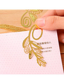 Personality Gold Color Hollow Out Leaf Shape Simple Design
