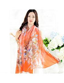 Pretty Orange Lily Pattern Decorated Simple Design