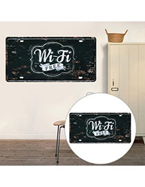 Nostalgic Black Letter Wifi Decorated Metal Painting Iron Household goods