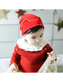 Lovely Red Devil Ears Decorated Pur Color Design