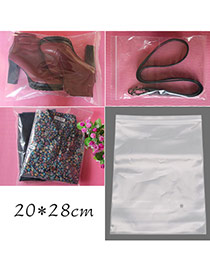 Fashion Transparent Color Pure Color Middle Size Hermetic Bag(10pcs) Plastic Household goods