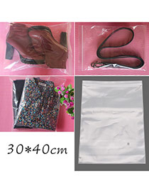 Fashion Transparent Color Pure Color Large Size Hermetic Bag(10pcs)