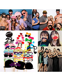 Funny Multicolor Various Shape Simple Design Photo Props