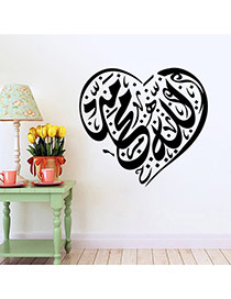 Creative Black Heart Pattern Removable Waterproof Design Wall Sticker  Pvc Household goods