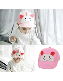 Cute Pink Cartoon Small Ears Decorated Pure Color Design