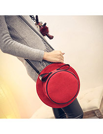 Personality Red Hat Shape Simple Design  Woolen Backpack