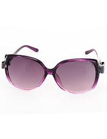 Fashion Purple Bowknot Decorated Simple Design