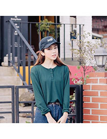 Fashion Black Letter And Decorated Simple Design  Canvas Baseball Caps