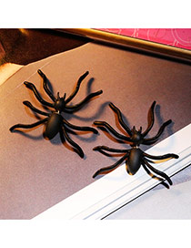 Sweet Black Spider Shape Decorated Simple Design  Alloy Stud Earrings